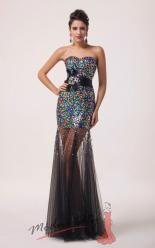 Duhové šaty s průhlednou sukní