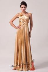 Zlaté plesové šaty s lístky
