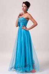 Plesové šaty s květinou v pase - více barev