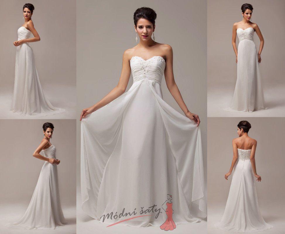 Bílé plesové šaty. 24d6970071
