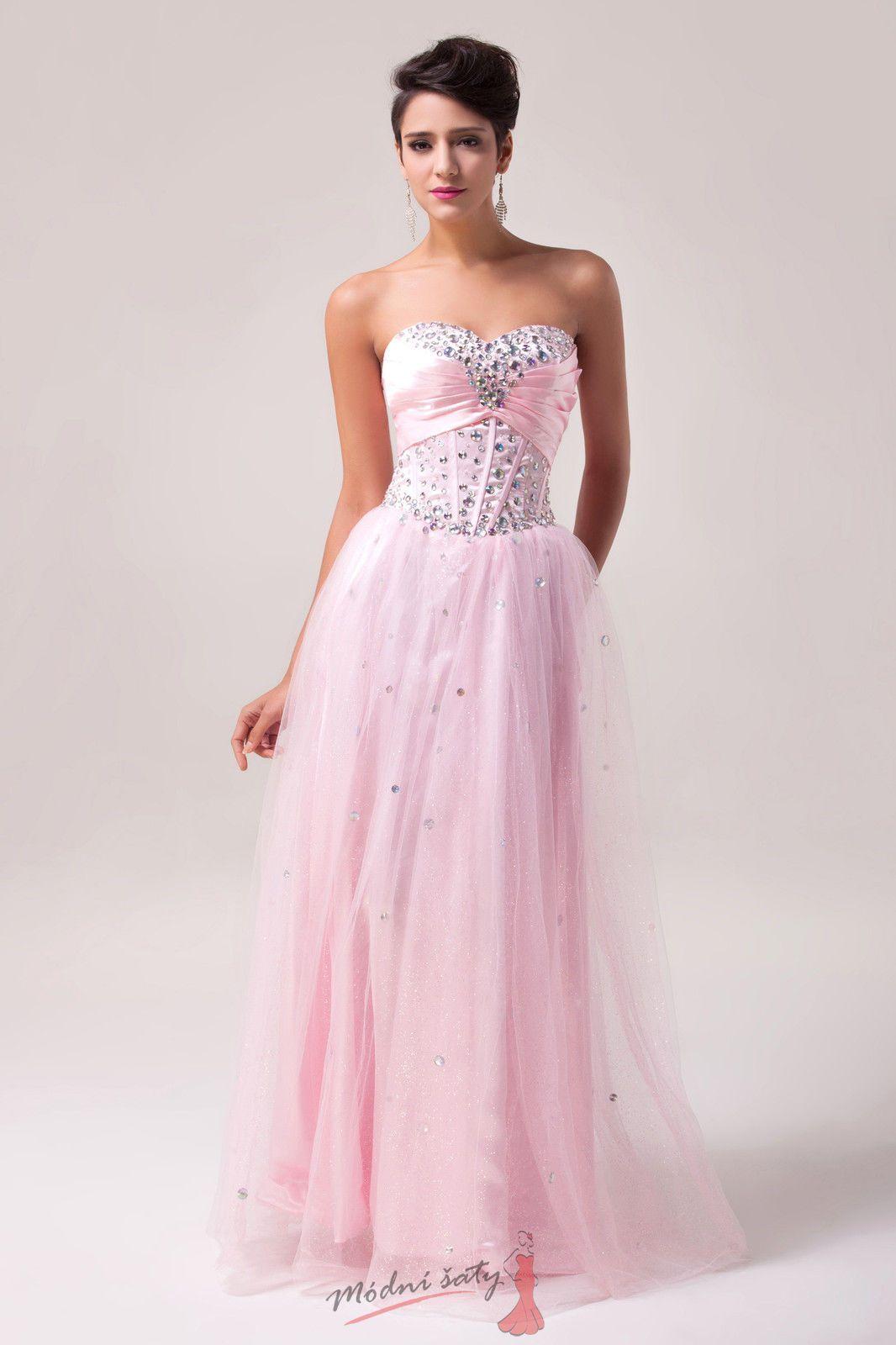 Růžové plesové šaty s tylovou sukní 4b5c2b961a