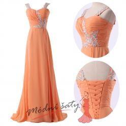 Oranžové šaty s korálky