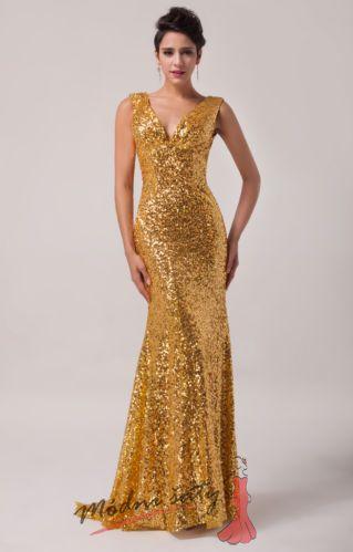 27bd38cdc23 Zlaté šaty s flitry.