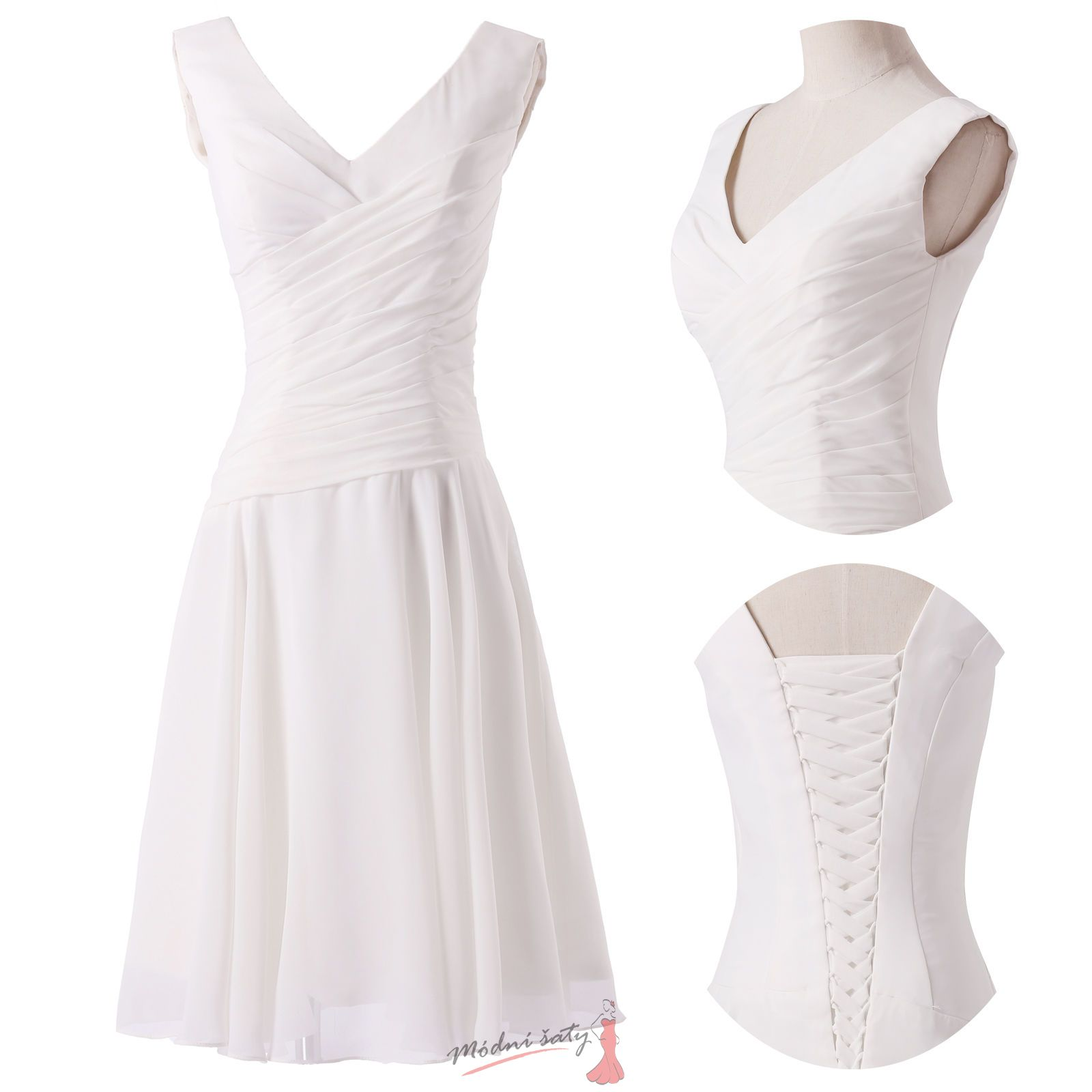 Bílé koktejlové šaty 4c816a379d