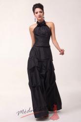 Černé společenské šaty ke krku