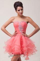 Baletkovské šaty lososové