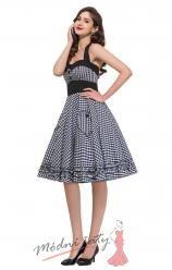 Retro šaty karečkované