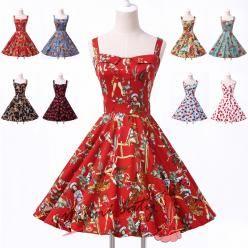 Šaty s retro motivy - více barev a vzorů