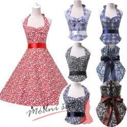 Retro šaty s různými vzory