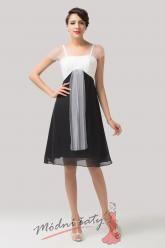 Bíločerné společenské šaty