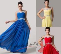 Plesové šaty s květinkami - více barev