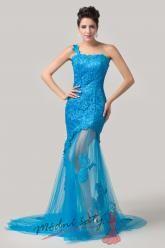 Plesové šaty s krajkou a průhlednou sukní