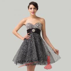 Černé plesové šaty s flitry