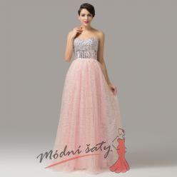 Plesové šaty se třpytivou sukní - více barev