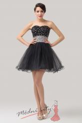 Černé koktejlové šaty nad kolena