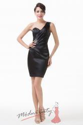 Černé společenské šaty přes rameno