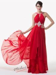 Červené plesové šaty s vlečkou