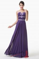 Nádherné fialové plesové šaty s kamínky
