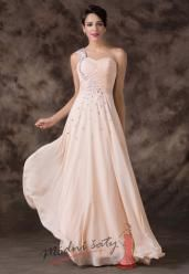 Meruňkové šaty pro družičky s kamínky
