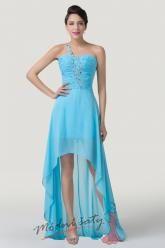 Nebesky modré šaty s vlečkou