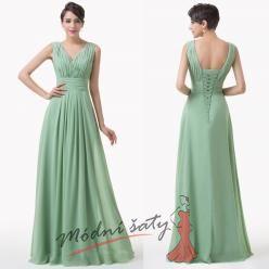 Šaty pro svatební hosty v zelené barvě