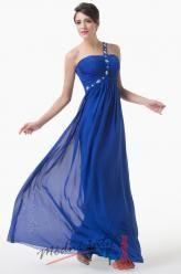 Tmavě modré večerní šaty na ramínko
