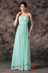 Tyrkysové plesové šaty