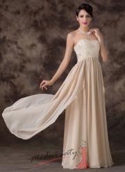 Krémové společenské šaty s květinkovým korzetem