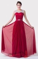 Červené plesové šaty na širokých ramínkách