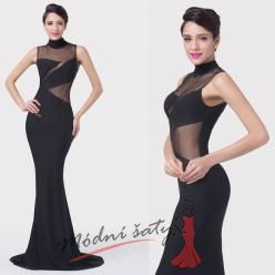 Úzké černé večerní šaty