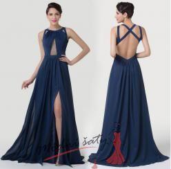 Vel. 36.- Tmavě modré večerní šaty