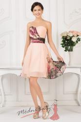 Květinové koktejlové šaty