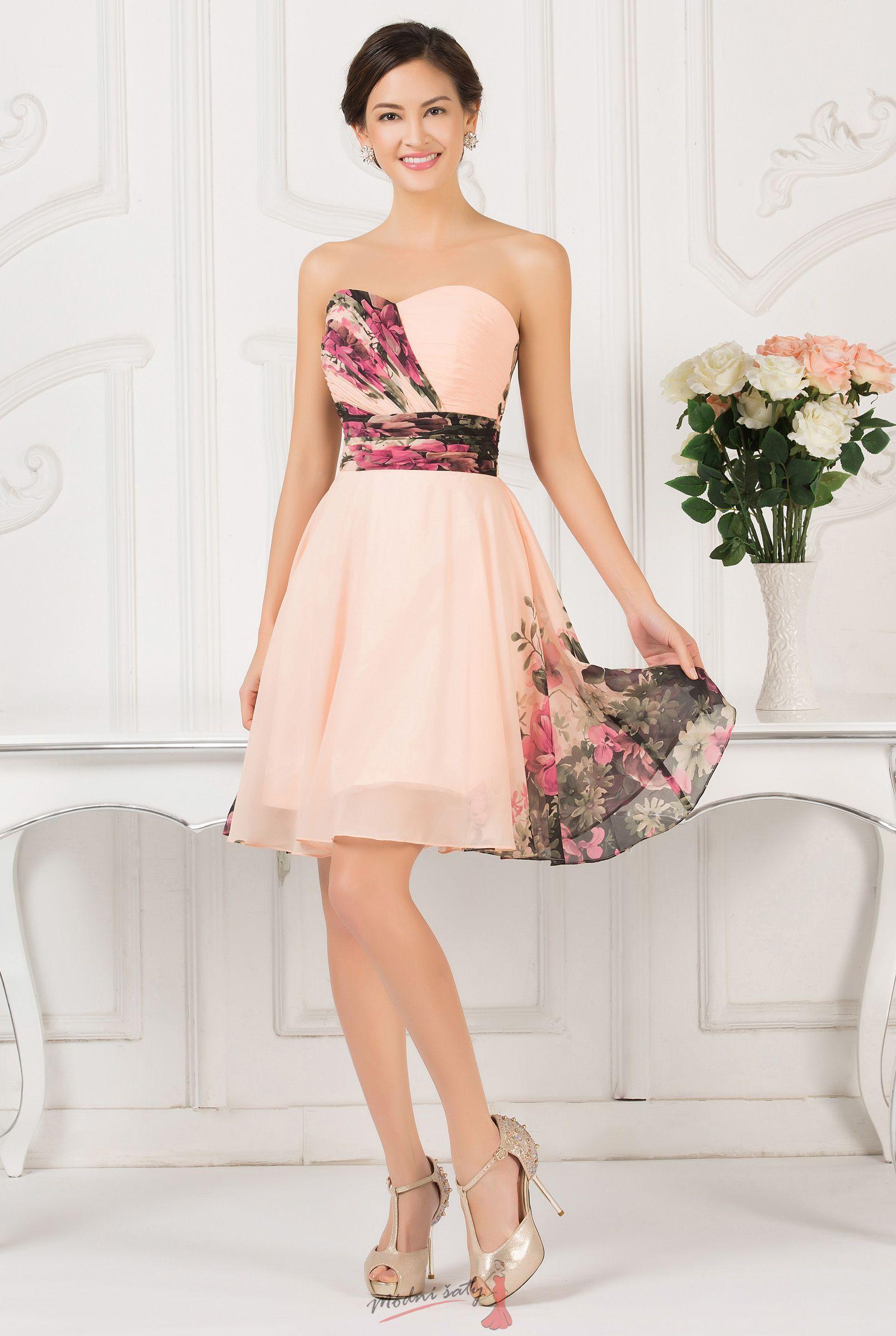 Květinové koktejlové šaty vel. 48 až 54 bdec06342e