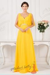 Zářivě žluté společenské šaty
