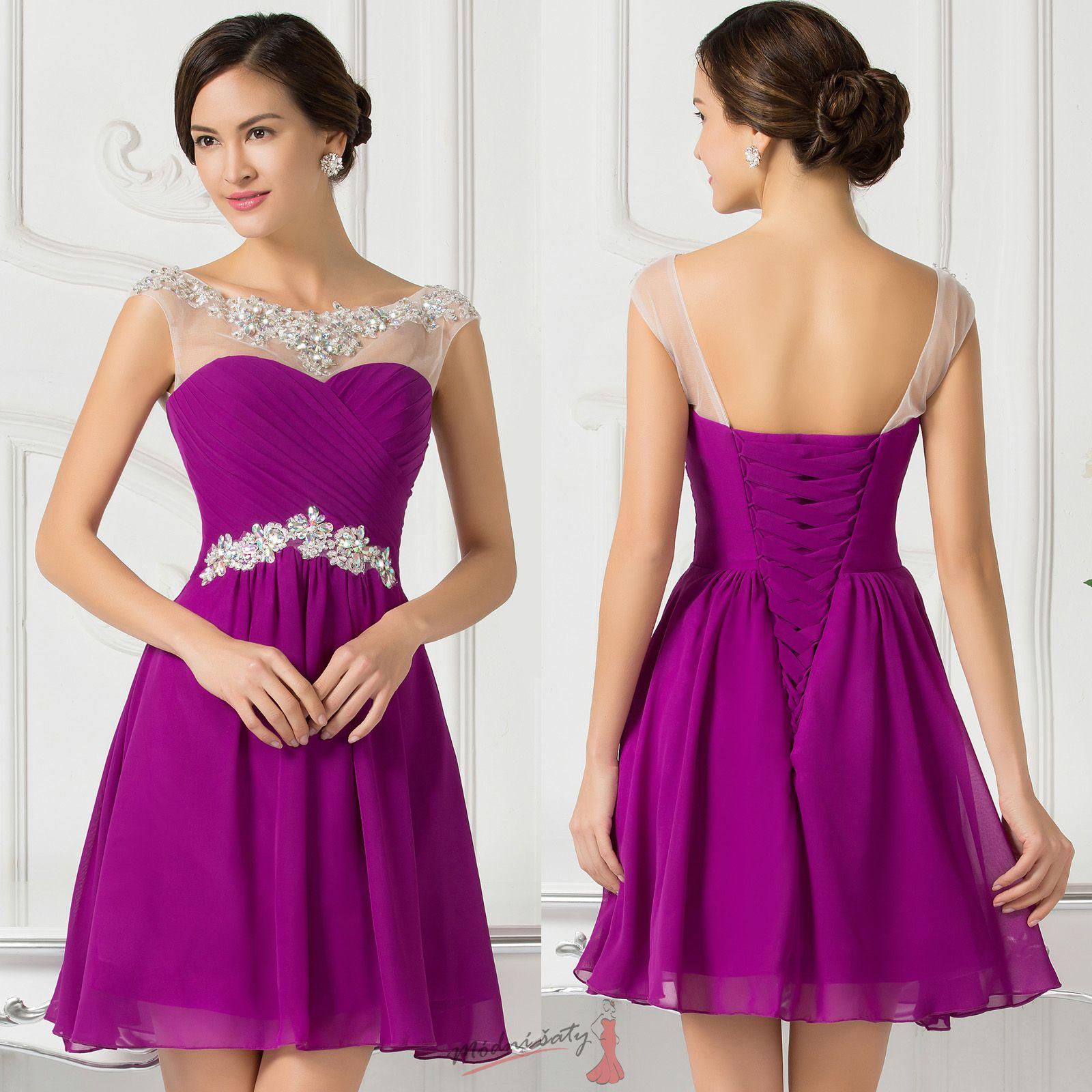 5e9fd4da98b2 Koktejlové šaty s průhledným živůtkem - více barev
