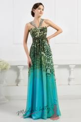 Leopardí zelenomodré šaty