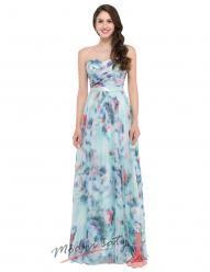Květinové šaty bez ramínek