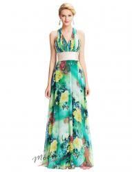 Tyrkysové květinové šaty