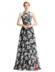Dlouhé romantické šaty s bílými květy
