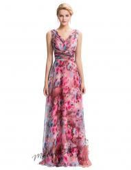 Plesové květinové šaty s širokými ramínky
