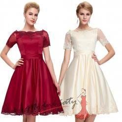 Saténové elegantní šaty s rukávky - více barev