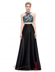 Dvoudílné odvážné šaty s překřížením na zádech - více barev