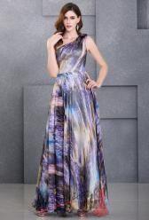Modrofialové šaty na jedno ramínko