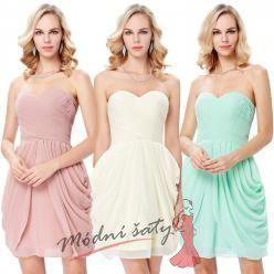 Koktejlové šaty s nabíranou sukní