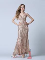 Zlaté plesové šaty s flitry