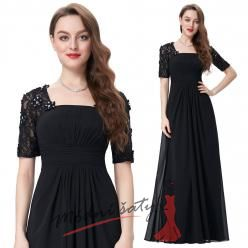 Černé večerní šaty s delšími rukávy