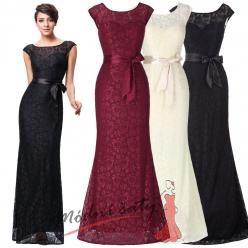 Úzké krajkové večerní šaty