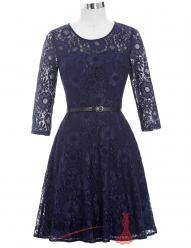 Krátké koktejlové krajkové šaty