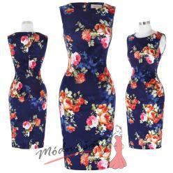 Květinové uplé šaty