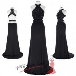 Černé šaty se třpytivým vrškem